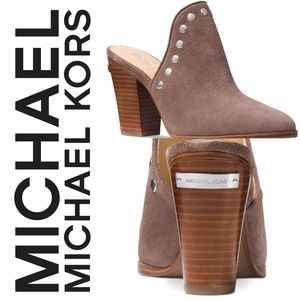 Michael Michael Kors Suede Louise Mule Suede Taupe